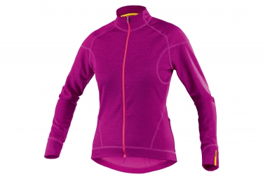 mavic 2016 maillot manches longues femme ksyrium elite thermo violet
