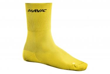 mavic 2016 paire de chaussettes crossmax high jaune