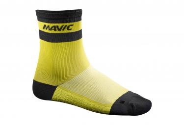 mavic 2016 paire de chaussettes ksyrium carbon jaune