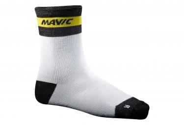 mavic 2016 paire de chaussettes ksyrium merino blanc
