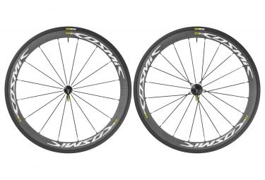 mavic 2016 paire de roues cosmic carbone 40 elite blanc shimano sram pneus yksion pr