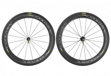mavic 2016 paire de roues cosmic carbone pro exalith shimano sram pneus yksion pro 2