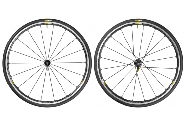 mavic 2016 paire de roues ksyrium elite noir campagnolo pneus yksion pro 25mm