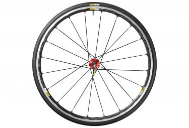 mavic 2016 roue arriere ksyrium elite rouge pneu yksion pro 25mm
