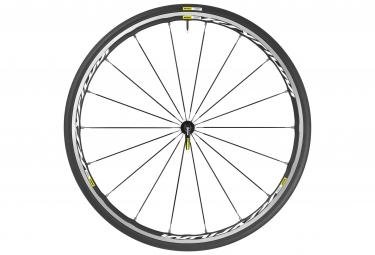 mavic roue avant ksyrium elite blanc pneu yksion pro 25mm