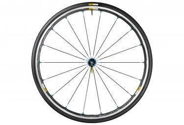 mavic roue avant ksyrium elite bleu pneu yksion pro 25mm