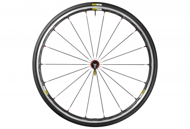 mavic roue avant ksyrium elite rouge pneu yksion pro 25mm