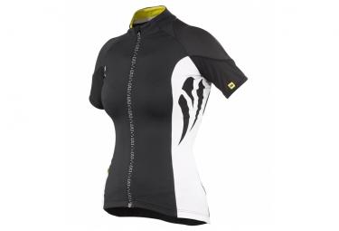 mavic maillot femme manches courtes ventoux noir blanc