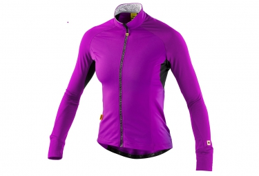mavic maillot femme manches longues athena thermo violet