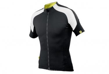 mavic maillot manches courtes infinity coupe droite noir blanc
