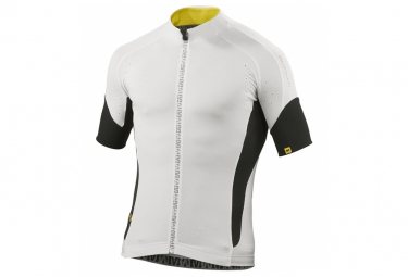 mavic maillot manches courtes infinity relax blanc