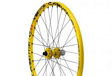 mavic roue arriere deemax ultimate 26 jaune axe 142x12mm 135x12mm corps de roue libr