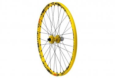 mavic roue arriere deemax ultimate 27 5 jaune axe 150x12mm corps de roue libre shima