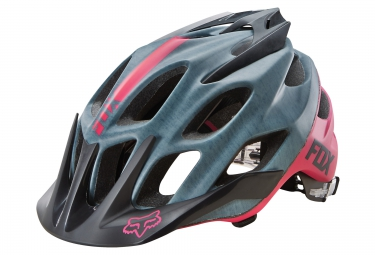 casque fox flux 2016 gris rose