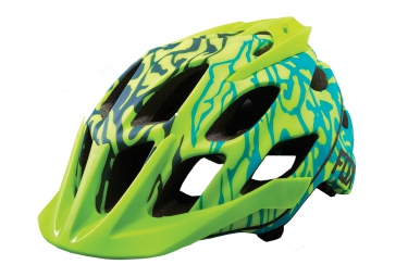 casque all mountain fox flux vert jaune