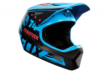 casque fox rampage comp union bleu