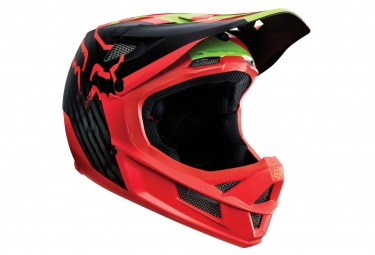 casque fox rampage pro carbon libra mips rouge