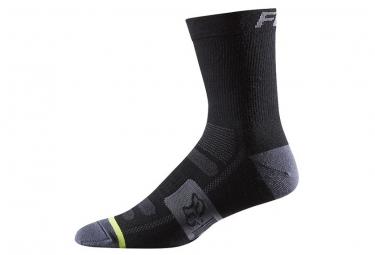 fox paire de chaussettes merino wool 6 noir