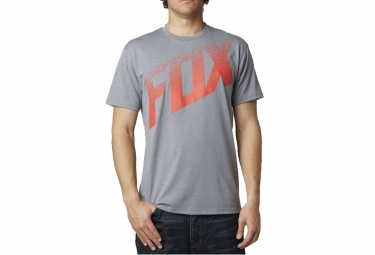 fox t shirt dirt alert gris