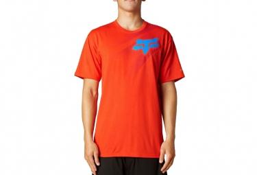 fox t shirt flight tech flame red
