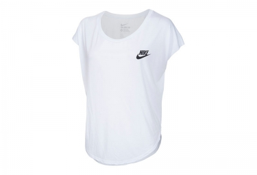nike maillot manches courtes signal speed snake blanc femme taille xs