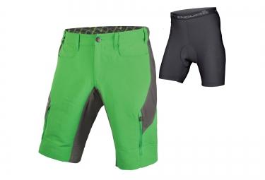 short avec peau endura singletrack iii vert