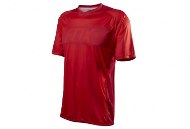 fox maillot attack manches courtes rouge