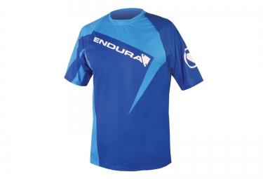 maillot manches courtes endura singletrack bleu