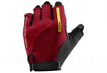 mavic paire de gants ksyrium elite rouge noir