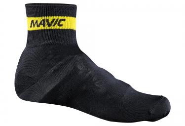 mavic couvre chaussures en maille noir jaune