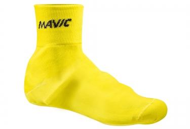 mavic couvre chaussures en maille jaune