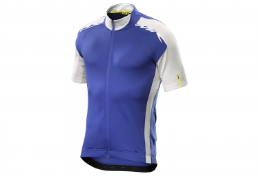 mavic maillot cosmic elite bleu blanc