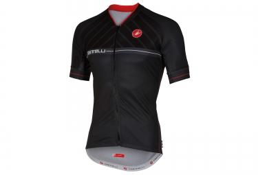 castelli maillot manches courtes scotta noir rouge