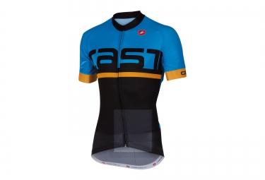 castelli maillot meta noir bleu