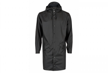 rains veste long jacket noir