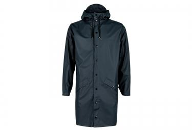 rains veste long jacket bleu