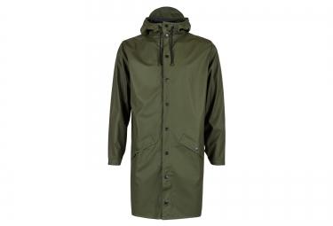 rains veste long jacket vert