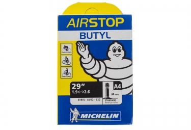 michelin chambre a air vtt a4 airstop 29x1 90 2 50 valve schrader 34mm
