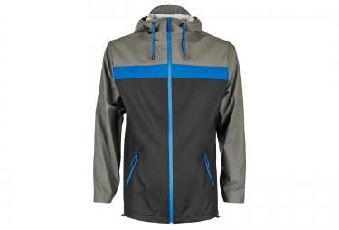 rains veste breaker noir bleu