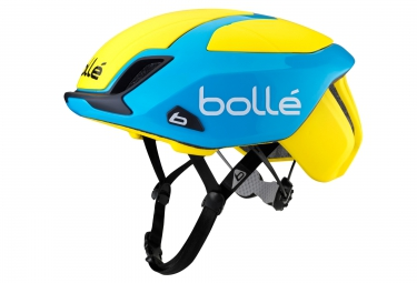 casque bolle the one road premium 2016 bleu jaune