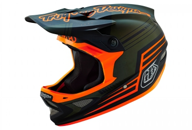 casque integral troy lee designs d3 composite berzerk 2016 vert orange