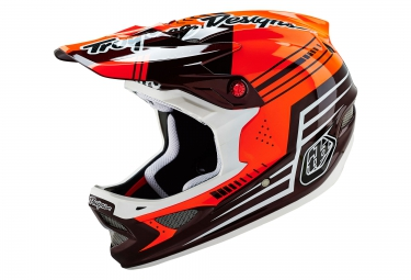 casque integral troy lee designs d3 carbon 2016 orange noir