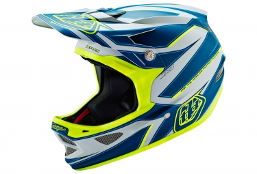 casque integral troy lee designs d3 composite reflex 2016 bleu jaune