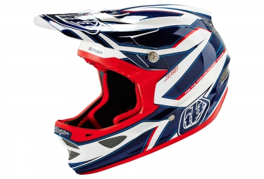 casque integral troy lee designs d3 composite reflex 2016 blanc bleu