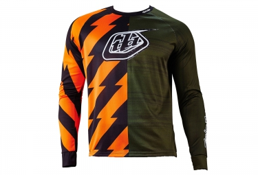 troy lee designs maillot manches longues moto vert