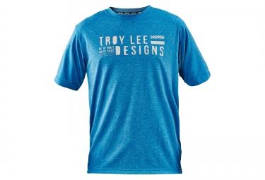troy lee designs 2016 maillot manches courtes network bleu