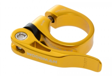 woodman collier de selle deathgrip qr avec levier or