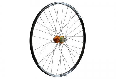 roue arriere hope tech xc pro 4 29 12x142 mm corps shimano sram orange