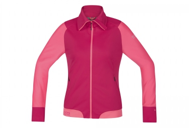gore bike wear veste power trail windstopper rose femme