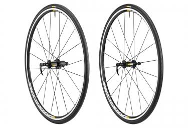 paire de roues mavic aksium elite noir 2016 corps campagnolo pneus yksion elite 28